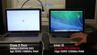 How to install an SSD in a Macbook Pro & Performance Demonstrations (using 3 systems)