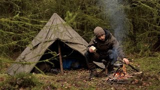 2 DAY SOLO BUSHCRAFT  in an Enchanted Forest - Canvas Tent (MOSS FOREST CAMP)