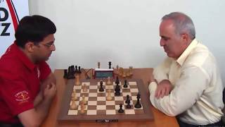 SICILIAN DEFENSE!! Viswanathan Anand vs Garry Kasparov || Rapid chess 2017
