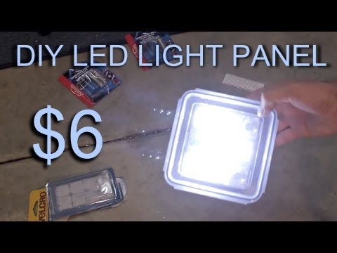 DIY LED Light Panel - $6