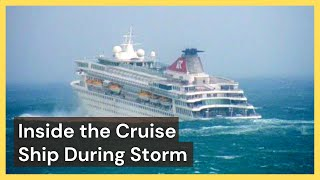 Inside the Cruise Ship During Storm - Compilation