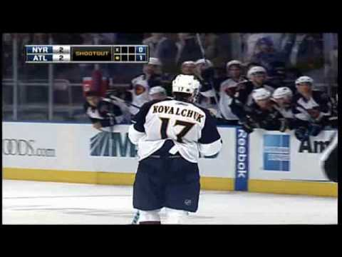Ilya Kovalchuk Nice Shootout Goal Against Rangers (December,14,2009) Video