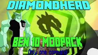Diamondhead in Only One Command | Minecraft Ben 10 Modpack
