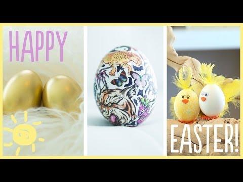 DIY | Adorable (Dye-Free) Easter Egg Decorations - DIY Imádnivaló húsvéti tojás dekorációk