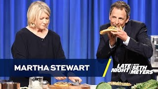 Martha Stewart Teaches Seth to Make Pizza