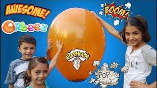 Funny Kids -  Giant Balloon Pop Surprise - Disney Toys - Orbeez - War Heads - Surprise - amy Calder