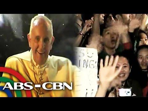 Pope Francis mainit na sinalubong ng mga Pinoy