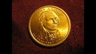 💰John Adams 2007 P $1 gold coin #VEDA 4/14/2016💰