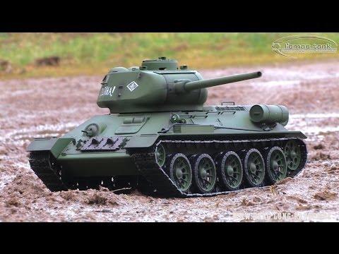 RC Battle Tank T 34 / 85 Heng Long Panzer 1:16 Modell ferngesteuert 2.4 GHz licmas-tank