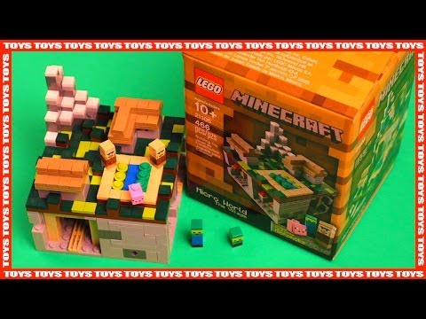 Lego Minecraft - Micro World, The Village #21105 - Time Lapse Build