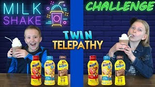Twin Telepathy Milkshake Challenge || Alyssa vs David