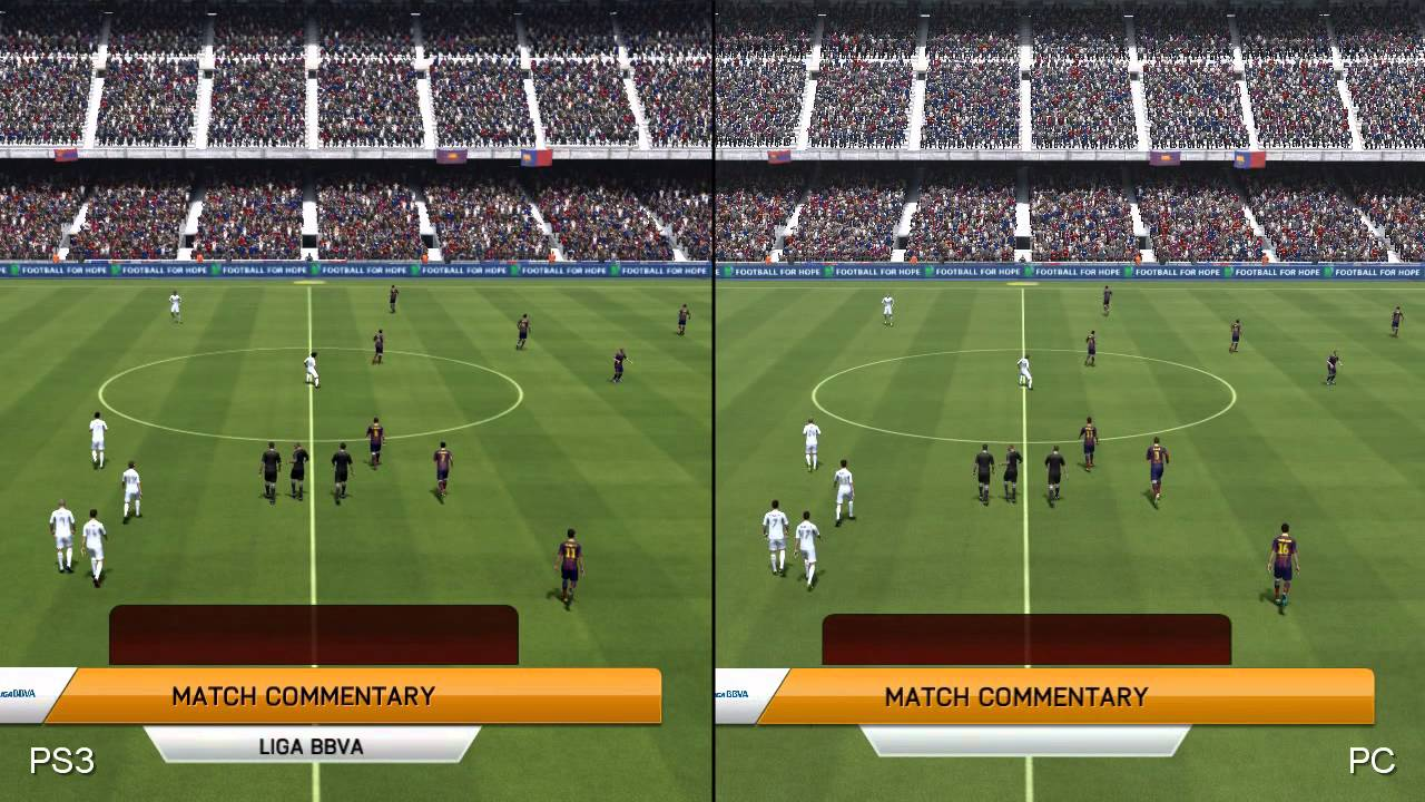 fifa 14 pc vs playstation 3 comparison youtube