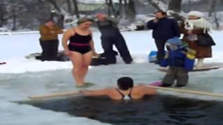 Крещение в Подмосковье 2012. Заозерье.