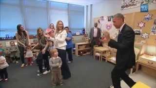 Obama Surprises Pre-School Kids With Visit