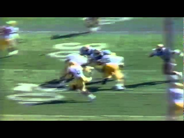 Oregon RB Derek Loville 17 yard run vs. UCLA 10-17-1987