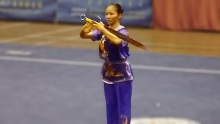 2011 China National Wushu Championships, Women Nandao Fujian Lin Fan 福建 林凡 9.70
