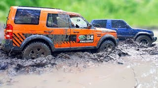 RC Cars Stuck In The MUD - Land Rover Discovery MST CFX, Mitsubishi Pajero Tamiya CC 01 - Vol 1