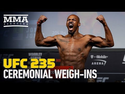 UFC 235 Ceremonial Weigh-In Highlights - MMA Fighting