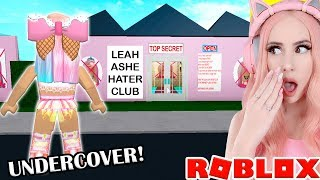 I Found A TOP SECRET LEAH ASHE HATER CLUB... SO I went Undercover... Bloxburg