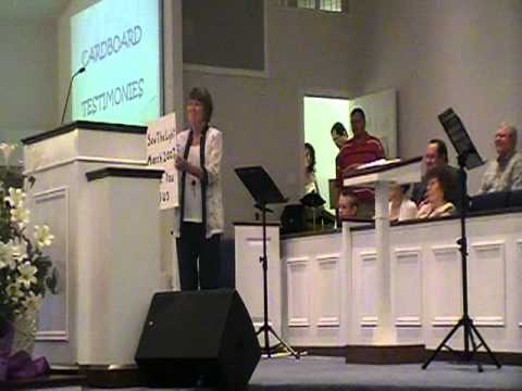 Cardboard testimonies  Central Baptist church bald knob ar
