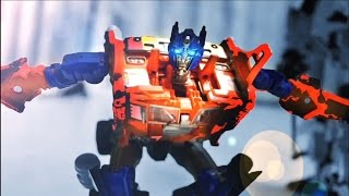 Transformers Stop motion - Prime VS Menasor 柯博文VS飛天虎