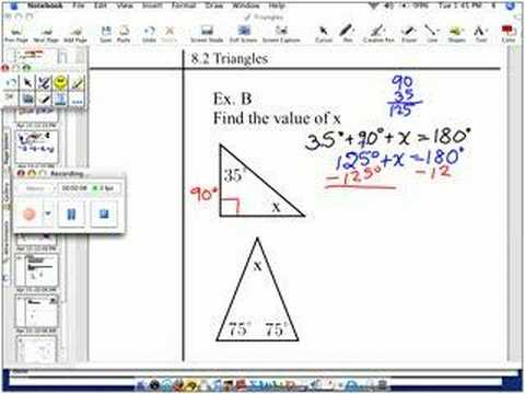 Finding The Missing Angle In Triangles 1 Youtube