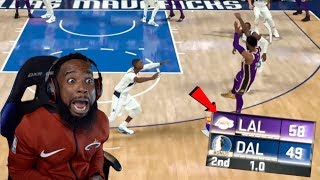 My First Buzzer Beater 3 Pointer! Lakers vs Mavericks NBA 2K20 MyCareer Ep 16