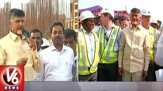 AP CM Chandrababu Naidu Inspects Polavaram Project Works