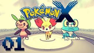 Let's Play Pokemon X Part 1 - My Journey Begins! Gameplay Walkthrough