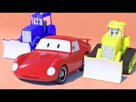 2 бульдозера и Шустрик из Гонкограда | мультфильм для детей про гоночную машину