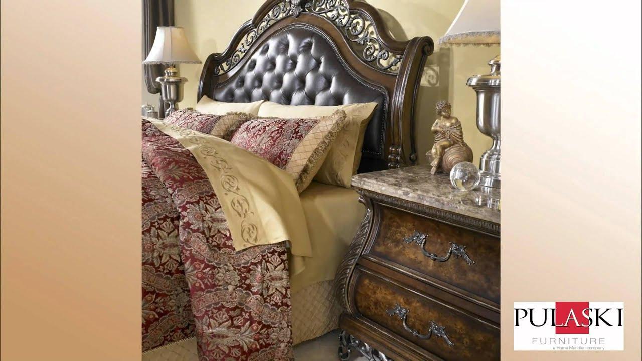 birkhaven sleigh bed bedroom set by pulaski furniture 991