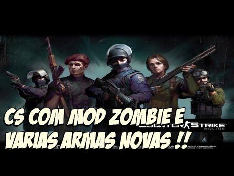 cs 1.6 com cerca de 35 novas armas adicionais + modo zombie tdm ,ffa e etc