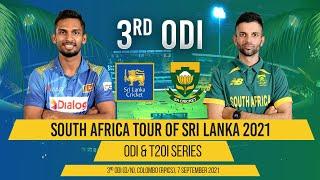 LIVE | 3rd ODI - South Africa tour of Sri Lanka 2021