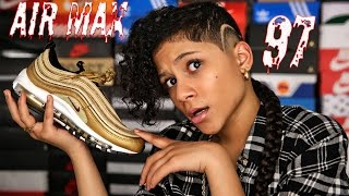 "BABY KAELY "" Sneaker Review on the AIR MAX 97 (12yr old kid rapper)"