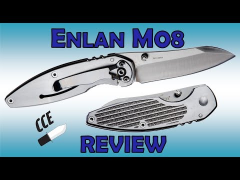 Review of the Enlan M08   Small All Steel Frame lock Folder at an ITTY BITTY Price