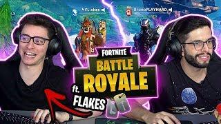 CHAMAMOS O FLAKES PRA JOGAR FORTNITE NA GAMELAND - feat Flakes Power
