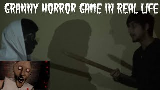 Granny Horror Game in real life   Funny video