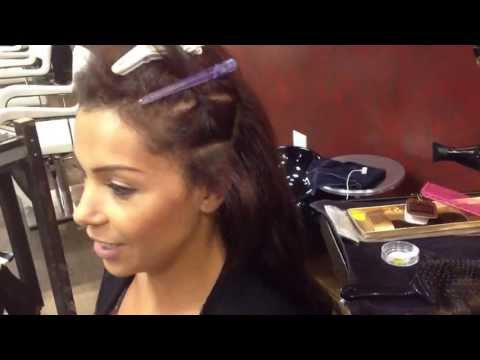 Professional Installation of Microbead Hair Extensions for Fine Hair