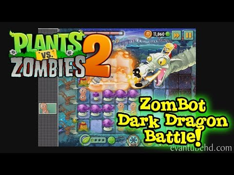 PLANTS vs. ZOMBIES 2 Dark Ages: Zombot Dark Dragon Boss Battle!