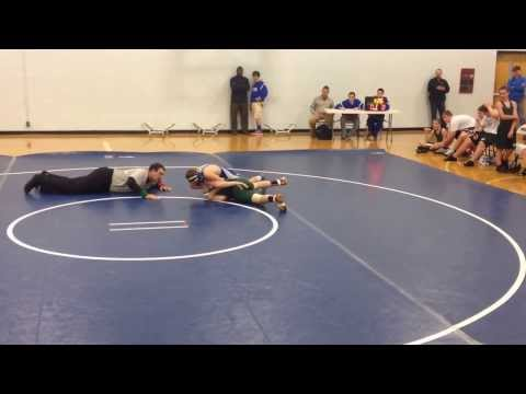 Houston Crouch 2013 Harpeth Middle School Wrestling vs Greenbrier. Hoots 9th pin & 9-3 season