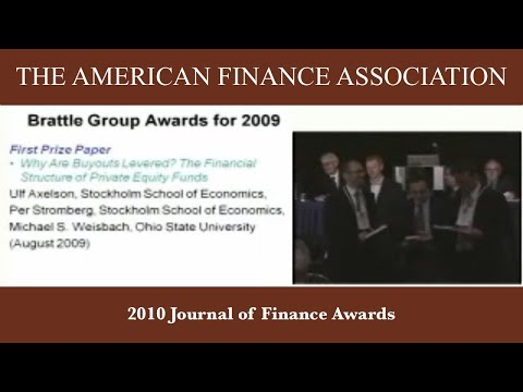 2010 Journal of Finance Awards