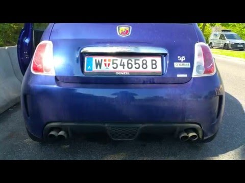 Fiat 500 Abarth - Revs & Exhaust Sound -  2016