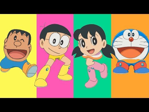 Learn Colors Doraemon, Nobita, Shizuka, Jaian | Colours for Kids Children thumbnail