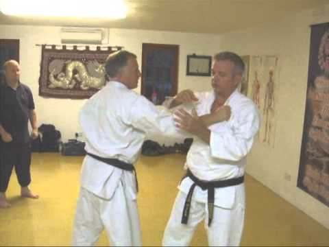 Tom Hill's Karate Dojo; Grab defense & takedown techniques Image 1
