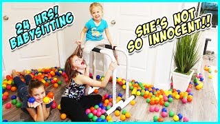 WE BABYSIT OUR SISTER FOR 24 HRS!!- LEARN How to babysit!