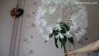 DIY| How to Make Flowers Crepe Paper | Giant Dandelion. Part 2 Subt. Eng)