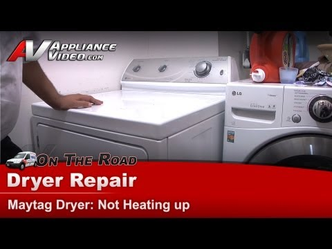 Dryer Diagnostic - Not Heating up - Repair & Diagnostic-Maytag - Whirlpool  MDE308DQYW