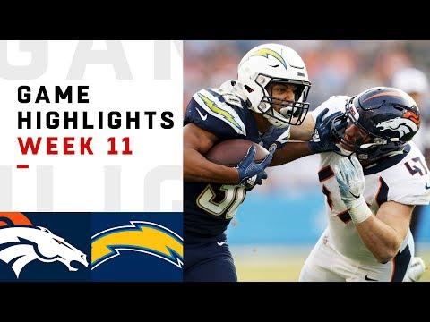 Broncos vs. Chargers Week 11 Highlights   NFL 2018