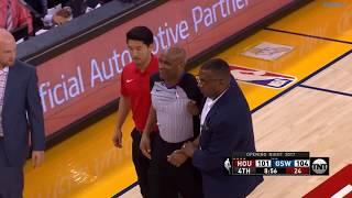 Warriors vs Rockets   Referee Injured Clip!!