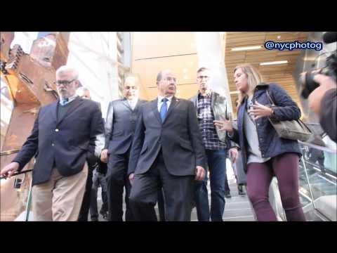 IDF Minister Moshe (Bogie) Ya'alon Tours 9/11 Memorial